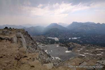 View of Lakes Basin from Eagle Cap summit.