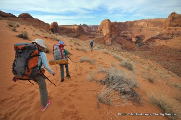 Descending to Coyote Gulch.