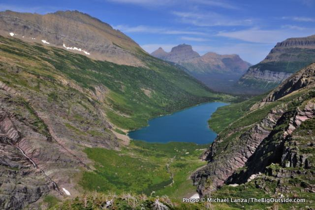 The view from the Gunsight Pass Trail, Glacier National Park.