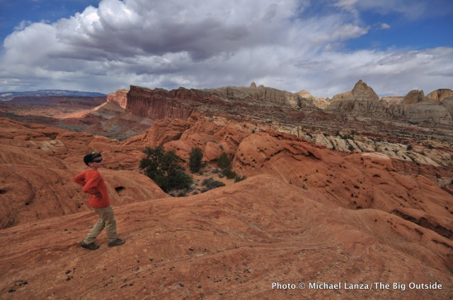 Hiking near Frying Pan Trail, Capitol Reef National Park.