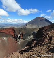 On the rim of Red Crater in Tongariro National Park, North Island.