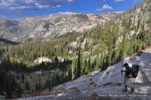 Trail 459, above Johnson Creek, Sawtooths