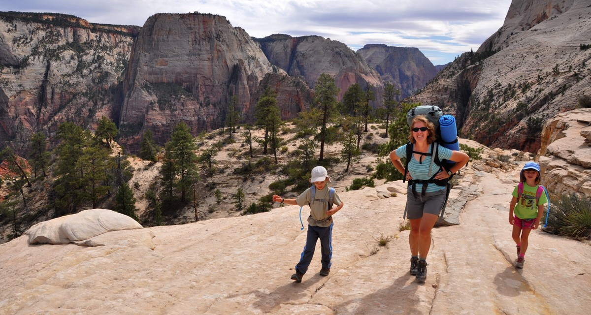 'No, Kids, We Won't Be Hiking in Zion National Park'