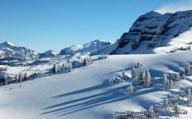 Skiing up Housetop Mountain.