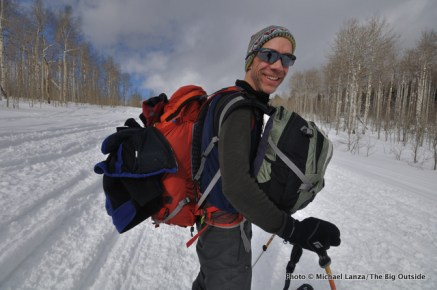 Tet17-002 Skiing in to Baldy Knoll yurt, Tetons, WY