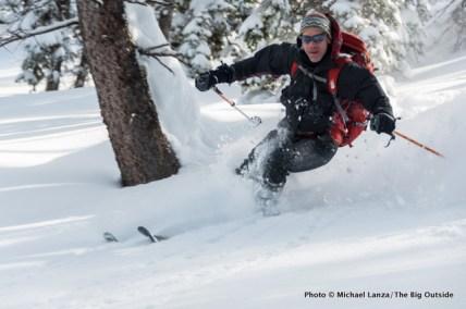 Skiing north of Baldy Knoll.