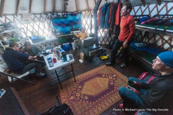 Inside the Baldy Knoll yurt.