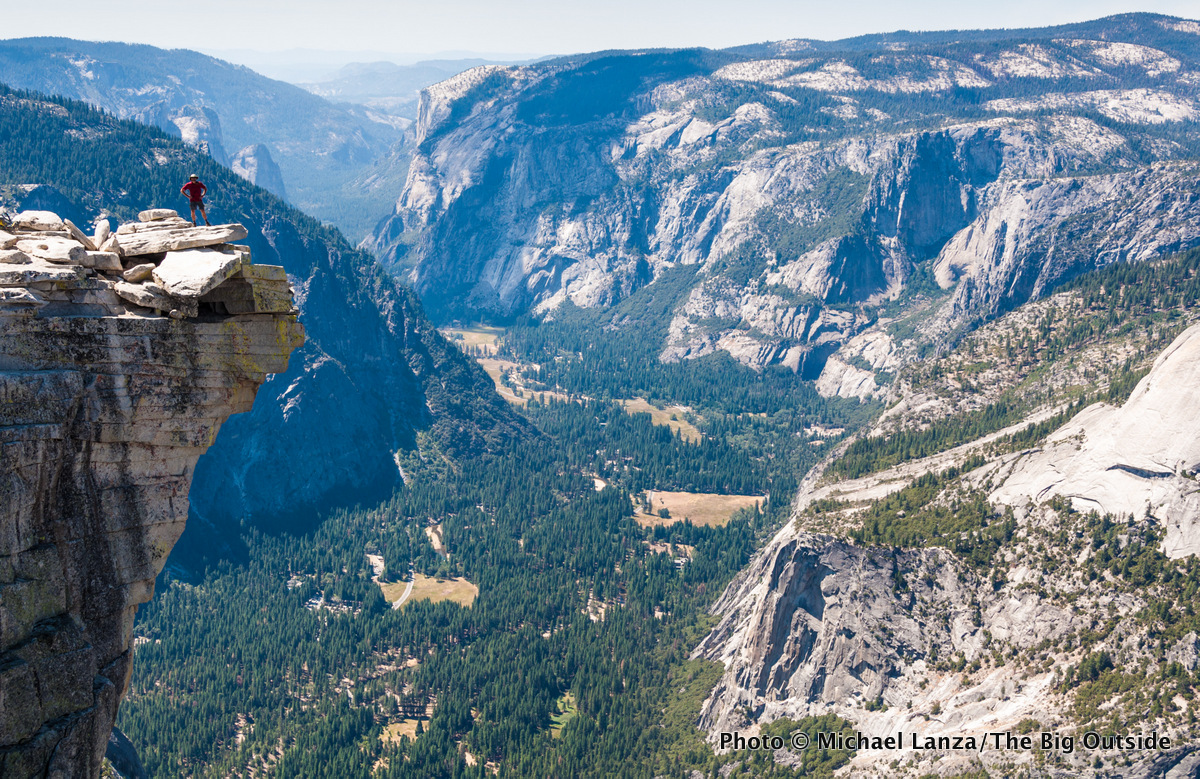 "The ""Diving board,"" Half Dome, Yosemite National Park."