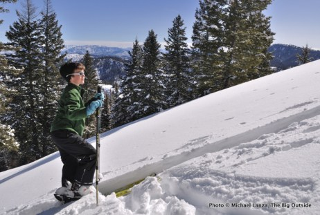 Backcountry skiing Freeman Peak, Idaho.