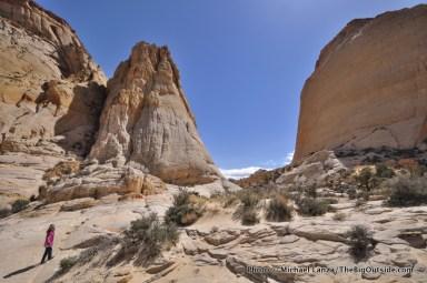 Off-trail below Golden Throne
