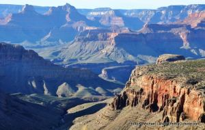 A view along the Grandview Trail in the Grand Canyon.