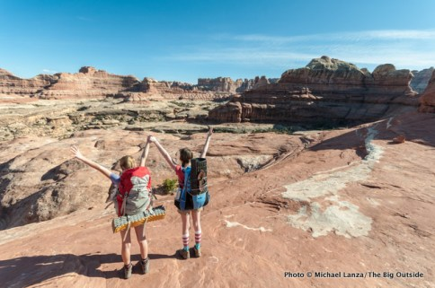 Above Squaw Canyon, Needles District, Canyonlands National Park.