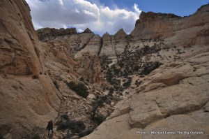 First day, Red Man Canyon, Beehive Traverse.