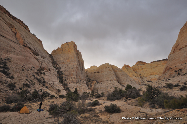 Second campsite on the Beehive Traverse, Capitol Reef National Park.