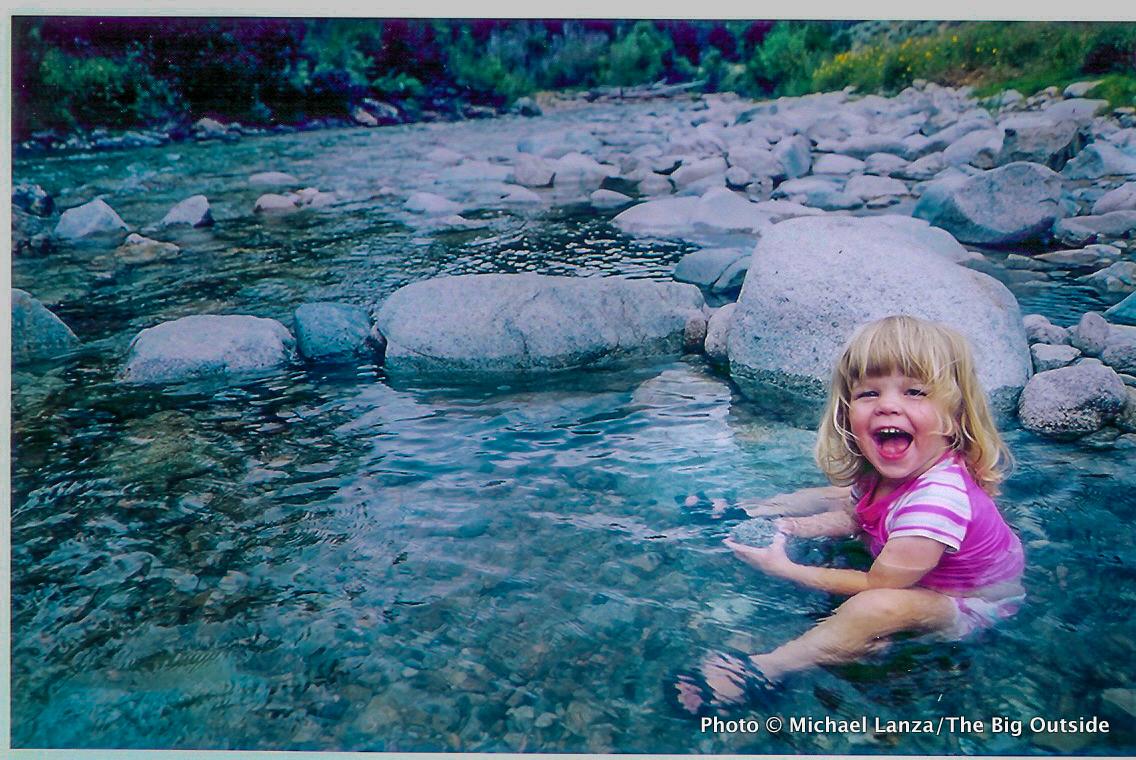 Alex at Skillern Hot Springs, Smoky Mountains, Idaho.