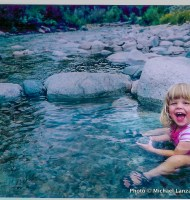 Alex at Skillern Hot Springs, Smoky Mountains, Idaho.