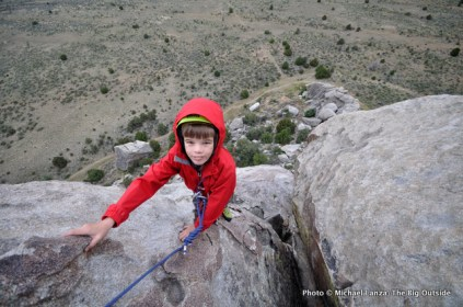 Nate rock climbing at Castle Rocks State Park, Idaho.