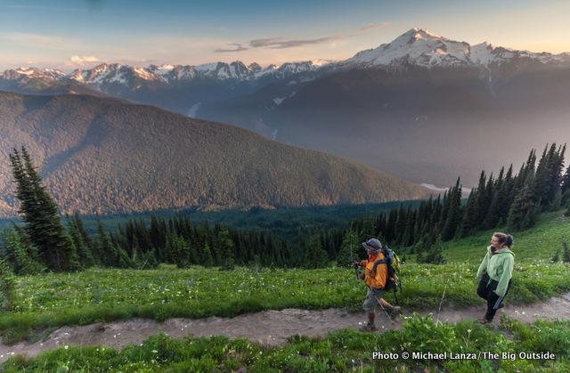 Trail 785 to Image Lake, Glacier Peak Wilderness, Washington.