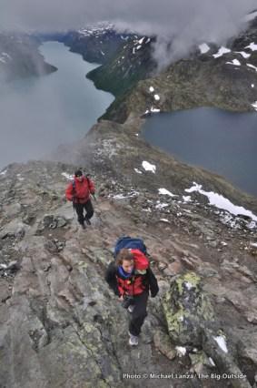 Besseggen Ridge, Jotunheimen National Park, Norway.