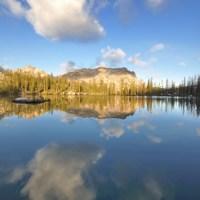 Rock Slide Lake, Sawtooth Mountains, Idaho.