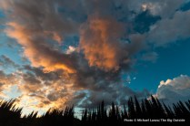 Sunset, Upper Lyman Lakes.
