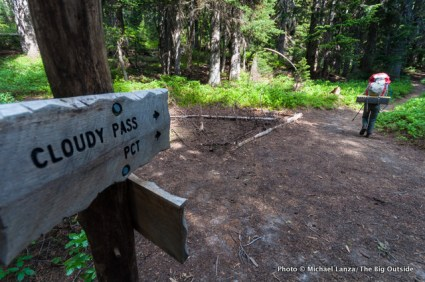 Pacific Crest Trail sign.