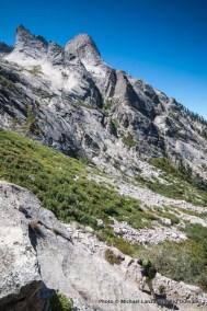 High Sierra Trail above Middle Fork Kaweah River.