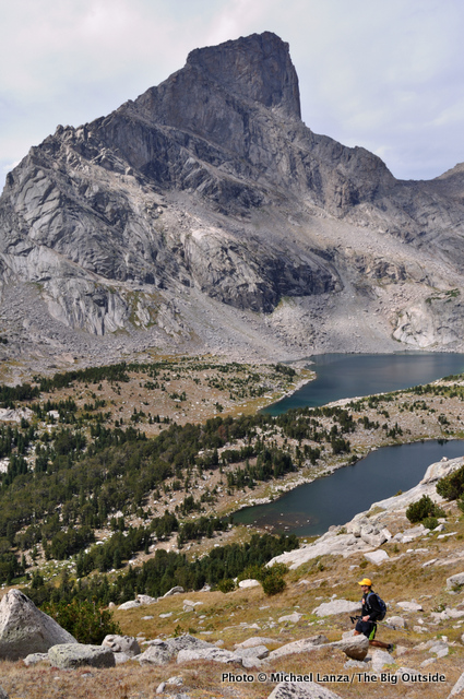 Hiking below Lizard Head Peak, Wind River Range.