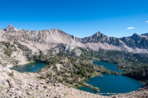 Headwall, Scoop, and Hummock Lakes, Boulder Chain Lakes.