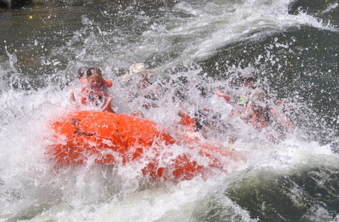 Whitewater rafting Idaho's Payette River.