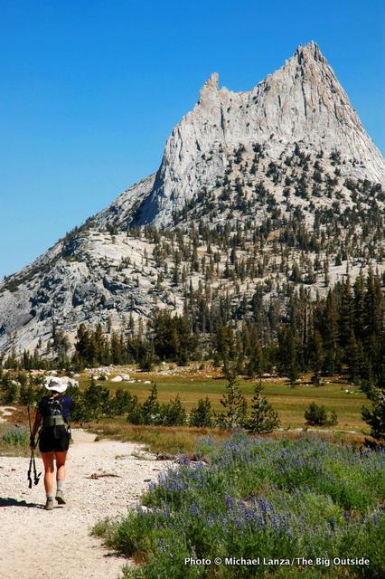 John Muir Trail below Cathedral Peak, Yosemite National Park.