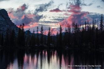 Sunset over Rock Slide Lake.