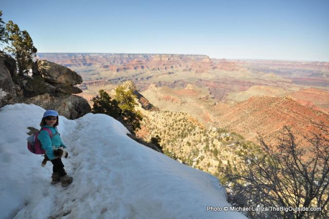 My daughter Alex, 7, on the Grandview Trail in the Grand Canyon.