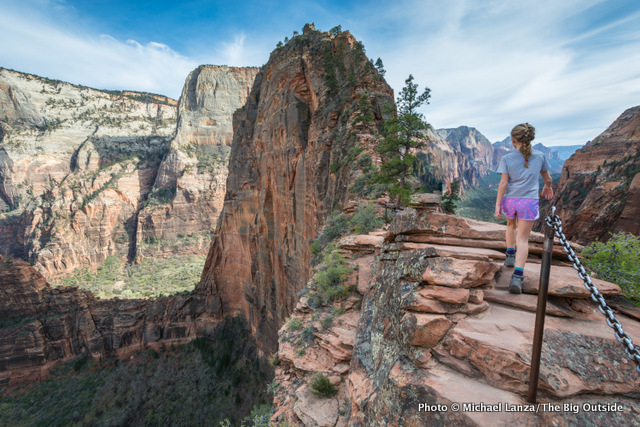 Hiking Angels Landing in Zion National Park, one of the 15 best national park dayhikes in the West.