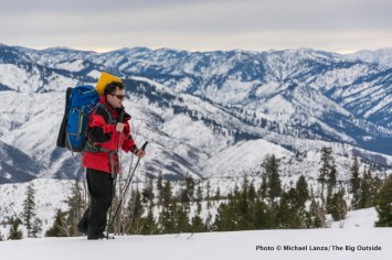 Skiing Elkhorn Loop to Banner Ridge yurt.