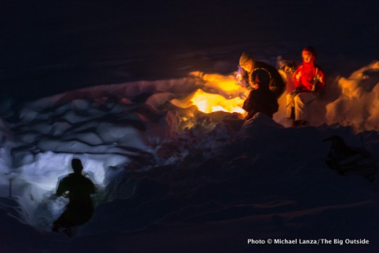 Campfires outside Banner Ridge yurt.
