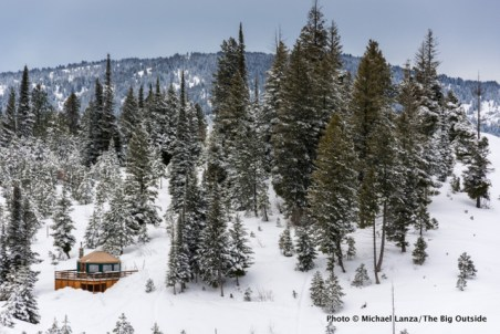 Banner Ridge yurt, Boise National Forest, Idaho.
