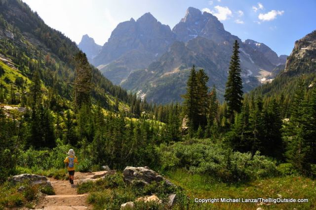 Hiking the North Fork Cascade Canyon, Grand Teton National Park.