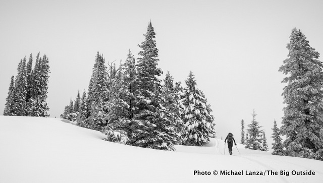 Backcountry skiing in Idaho's Boise Mountains.
