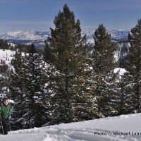 My son, Nate, skiing Freeman Peak in Idaho's Boise Mountains.