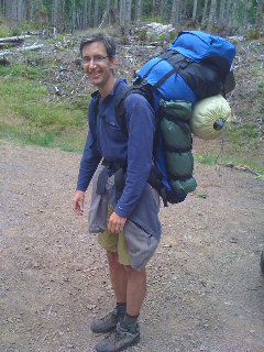 My friend, Steve, backpacking with his family. Knew I'd get to use this eventually.