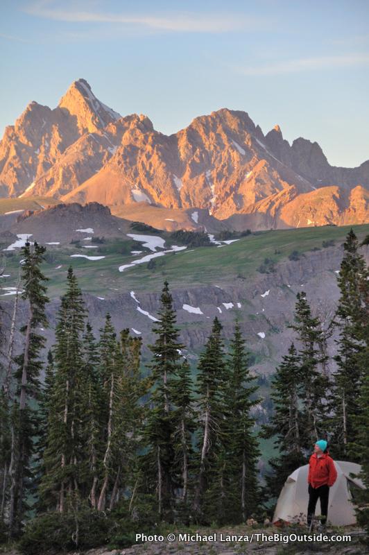 Campsite on Death Canyon Shelf, Grand Teton National Park.