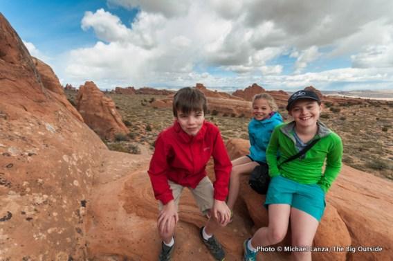 Nate, Alex, Sofi in Devils Garden.