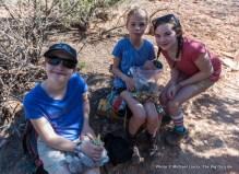Sofi, Alex, Lili in Big Spring Canyon.