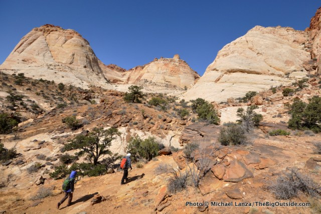 Hikers on the Tanks Trail, Capitol Reef National Park.