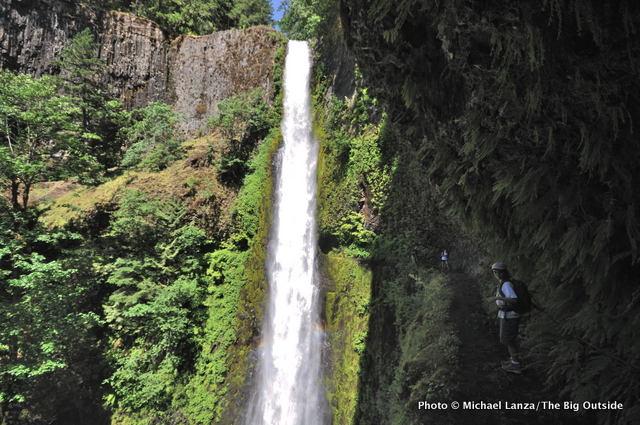 My son, Nate, at Tunnel Falls, Eagle Creek Trail, Columbia Gorge, Oregon.