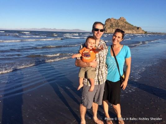 Mason, Mark, and Shanti Hodges in Loreto, Baja California Sur, Mexico.