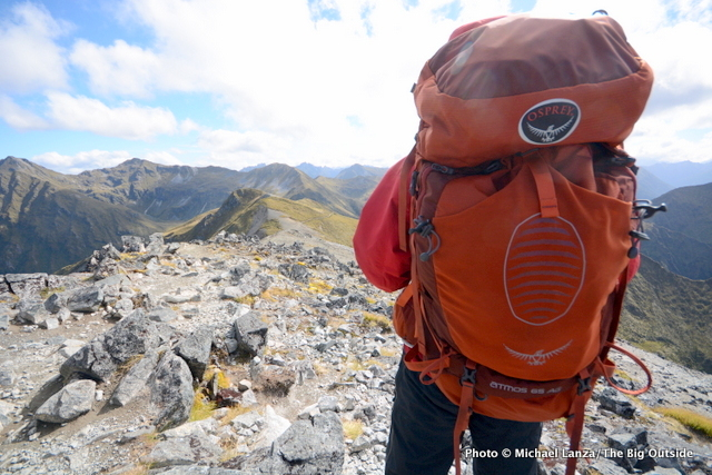 The Osprey Atmos AG 65 on New Zealand's Kepler Track