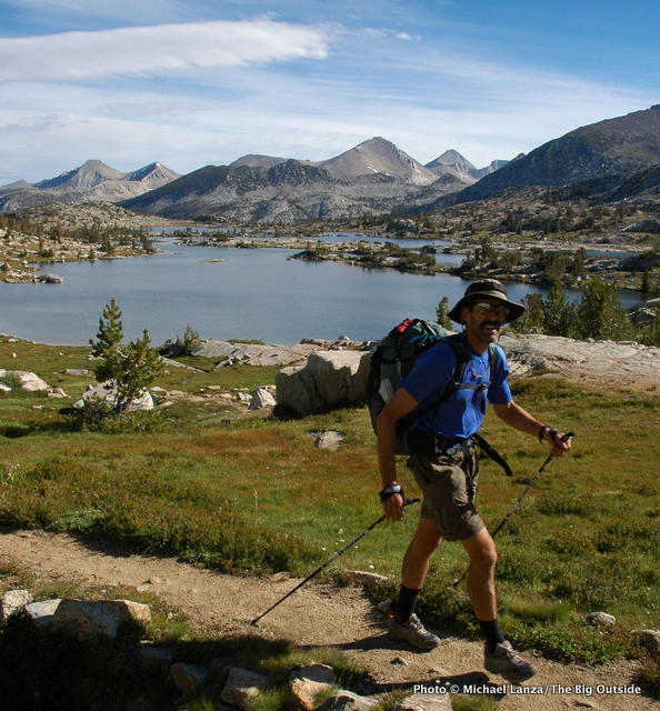 Above Marie Lake on the John Muir Trail in the John Muir Wilderness, California.