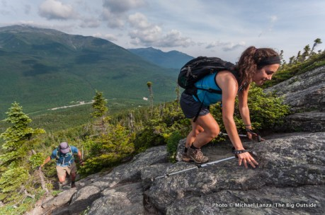 Anna hiking the Wildcat Ridge Trail.